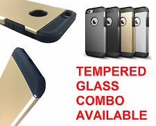 Slim Armor Tough Back Case Cover for iPhone 6 / iPhone 6S (4.7) | Tempered Glass