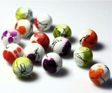 MOTTLED DRAWBENCH GLASS BEADS choose 6mm 8mm 10mm MIXED  COLOURS