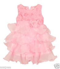 Luke and Lilly  kids  Party wear Designer Princess Girls Frock - Baby Pink