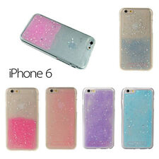 NEW Glitter Star Sparkle Gel Silicone Case Cover For Apple iPhone 6 or 6S 4.7""