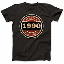 Seattle Grunge 1990 T-Shirt 100% Premium Cotton Kurt Cobain Inspired