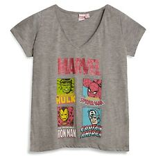 Ladies MARVEL T Shirt  Primark Tee Top