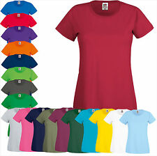 FRUIT OF THE LOOM Frauen SHIRT Lady-Fit Original Tee Gr. XS S M L XL XXL (B) FOL