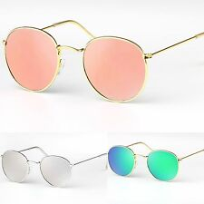 Unisex Oval Polarized Lens Metal Frame Classic Retro Sunglasses UV400