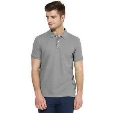 Polo Nation Grey Solid Cotton Polo T-Shirt