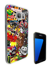 235 StickerBomb Cartoon Case Cover For Samsung Galaxy J1 J3 J5 A3 A5 S6 S7 Edge