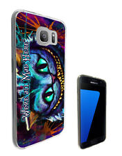 753 We're all Mad Here Case Cover For Samsung Galaxy J1 J3 J5 A3 A5 S6 S7 Edge