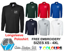 Personalised Embroidered Longsleeve Poloshirt, Workwear, Uniform, Business
