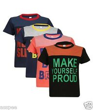 Luke and Lilly Boys Printed Round Neck Cotton Half Sleeve T-Shirt Pack of 4