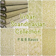Sage Green and White Urban Scandinavian Contemporary Cotton Patchwork Fabric
