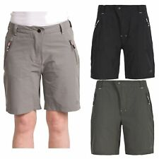Trespass Brooksy Summer Womens Shorts Casual Beach Grey Black Colours