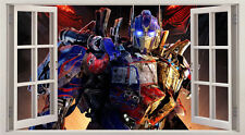 Transformers Optimus Prime 3D Window Wall Sticker Art Decal Mural 356