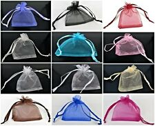 100 Luxury Premium Organza Wedding Bags Pouch Gift Bags 12 Colors Various Sizes
