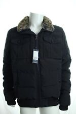 BNWT TOMMY HILFIGER MENS BLACK JACKET FUR LINED COLLAR DOUG BOMBER COAT RRP £250