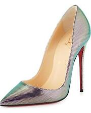 Christian Louboutin SO KATE 120 Disco Iridescent Tissu Heels Pumps Shoes $695