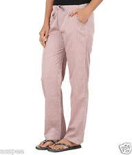 Antshrike Women Cotton Woven Pyjama Nightwear Pant -Pink