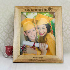 Graduation Personalised Engraved Message Gift Photo Frames