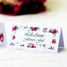 5 x Personalised Place Cards – Weddings etc  – Floral Bouquet