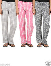 Antshrike Pack of 3 Cotton Woven Women Pyjama Nightwear Pant
