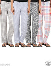 Antshrike Pack of 4 Cotton Woven Women Pyjama Nightwear Pant
