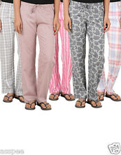 Antshrike Pack of 5 Cotton Woven Women Pyjama Nightwear Pant