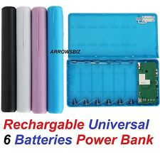 Universal Dual USB Port Power Bank Charger Backup External Battery Flash Light