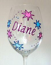 Personalised 50th Birthday Gift Stars Large Wine Glass Champagne Flute 30th 40th