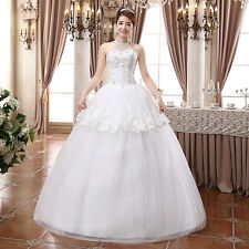 White Weeding Special Solid Floor-Length Evening Dress