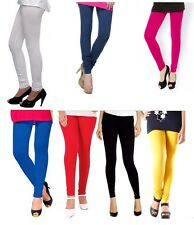 Ladies Churidar Leggings Combo Pack of 7 Cotton Lycra Leggings
