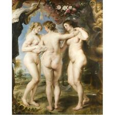 1635 Peter Paul Rubens The Three Graces Greek Mythology Painting New Art Poster