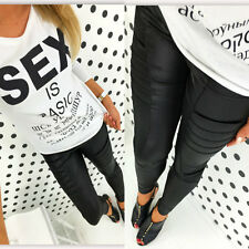 Neu Damen Rohren Hose Treggings Leggings Jeggings Schwarz M/L XL/XXL