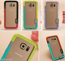Soft Walnutt Hybrid Protective Bumper Case Cover for SamSung Galaxy S7 Edge Case