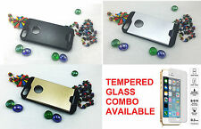 Motomo Hybrid Metal Brushed Look Back Cover case iPhone 5 5S SE | Tempered COMBO