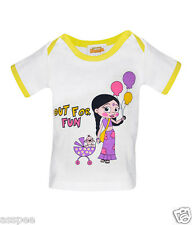 Chhota Bheem Fane Chutki Printed Round Neck Cotton T-Shirt for Baby Girls