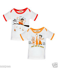 Chhota Bheem Printed Round Neck Cotton T-Shirt for Baby Boys - Pack of 2
