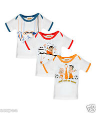 Chhota Bheem Printed Round Neck Cotton T-Shirt for Baby Boys - Pack of 3