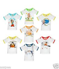 Chhota Bheem Printed Round Neck Cotton T-Shirt for Baby Boys - Pack of 7
