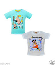 Chhota Bheem Printed Round Neck Cotton T-Shirt for Baby Boys Pack of 2