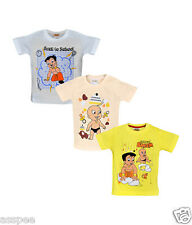 Chhota Bheem Printed Round Neck Cotton T-Shirt for Baby Boys Pack of 3