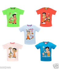 Chhota Bheem Printed Round Neck Cotton T-Shirt for Baby Boys Pack of 5