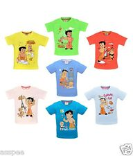 Chhota Bheem Printed Round Neck Cotton T-Shirt for Baby Boys Pack of 7