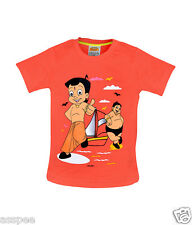 Chhota Bheem with Kalia Printed Round Neck Cotton Red T-Shirt for Baby Boy