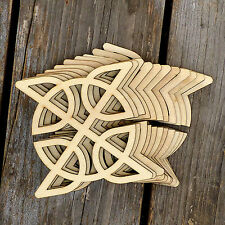 10x Wooden Celtic Knot Circle Square Basic Craft Shapes 3mm Plywood Patterns