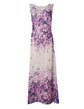 Marks & Spencer Lilac Floral Chiffon Sleeveless Maxi Dress Orig Price £65