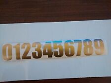 Stickers ,numbers,signs,door numbers,Sticky door numbers Letters,gold