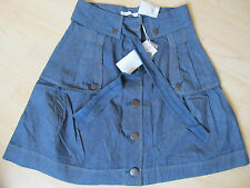 * NEU ONLY Rock Clove Highwaisted Belt Skirt jeansblau weiß gestreift *