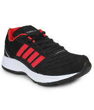 COLUMBUS BRAND MENS BLACK RED CASUAL LACE SPORTS SHOES TAB-15