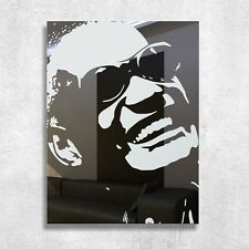 Ray Charles Specchio Quadro Vetro Specchio Decorato Incisione Pop Art