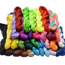 2mm RATTAIL SILKY SATIN CORD THREAD 10 MTRS  20 COLOUR CHOICE