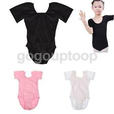 Wholesale Girls Cotton Short Sleeve Stretchy Dance/Gym/Ballet Sport Leotards